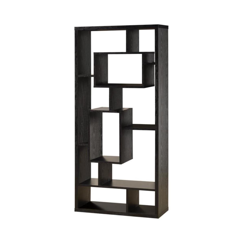 Bookcase In Black Oak Finish - image-1