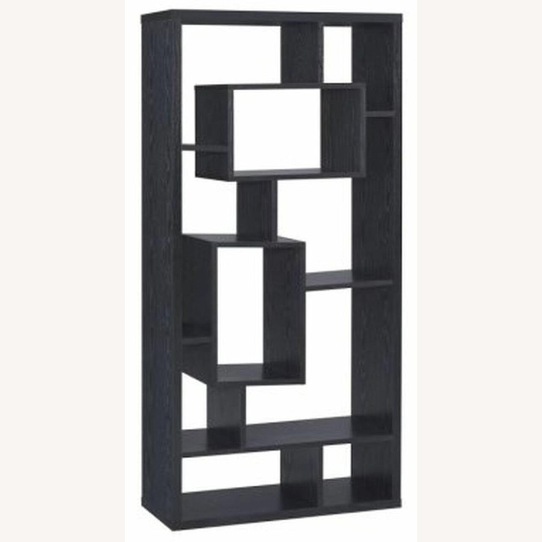 Bookcase In Black Oak Finish - image-0