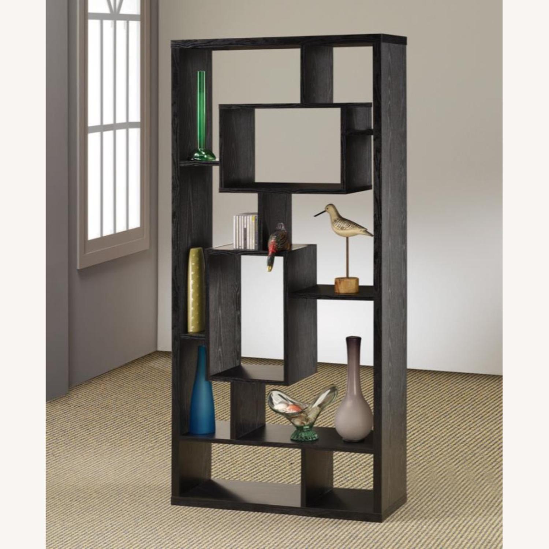 Bookcase In Black Oak Finish - image-2