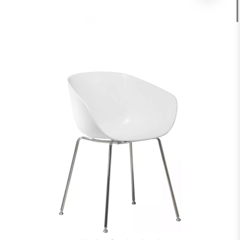 CB2 Poppy White Chair - image-3