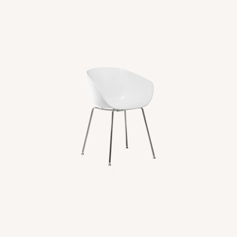 CB2 Poppy White Chair - image-0