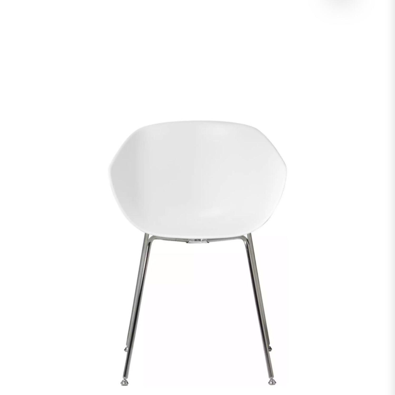 CB2 Poppy White Chair - image-2