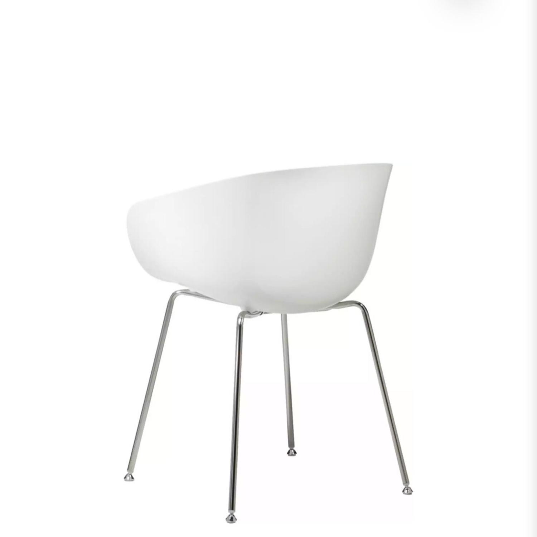 CB2 Poppy White Chair - image-5
