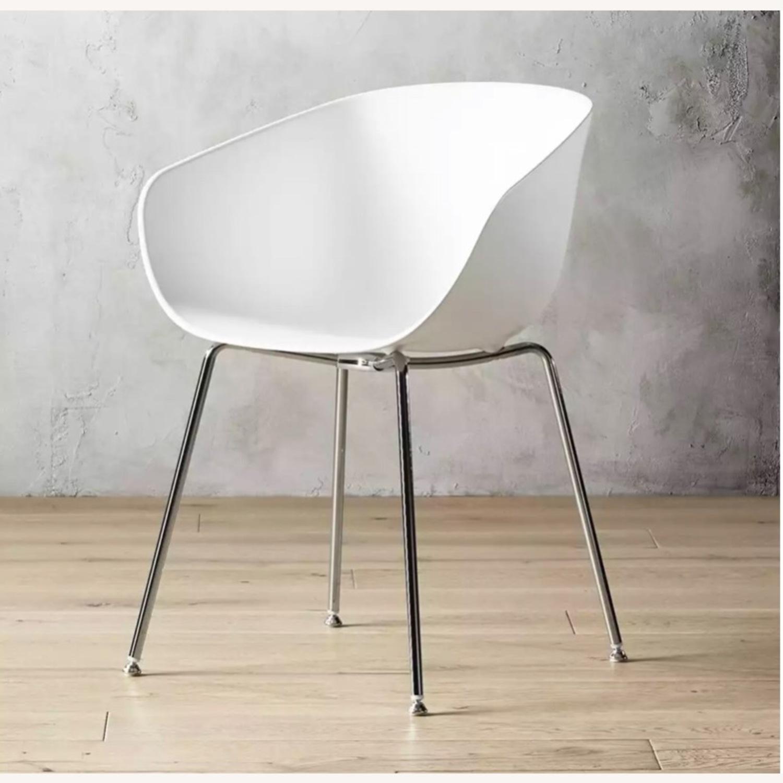 CB2 Poppy White Chair - image-1
