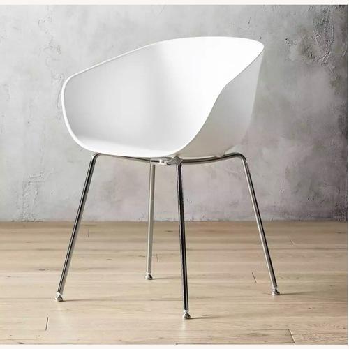 Used CB2 Poppy White Chair for sale on AptDeco