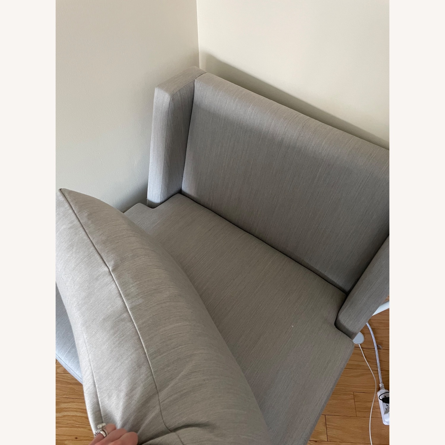 Silver/Gray Accent Chair - image-4