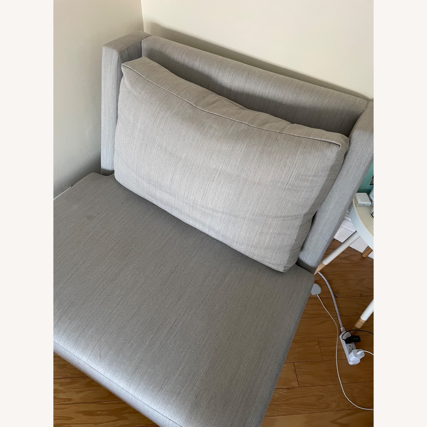 Silver/Gray Accent Chair - image-3