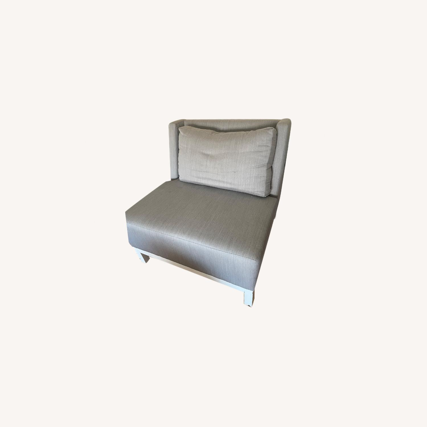 Silver/Gray Accent Chair - image-0