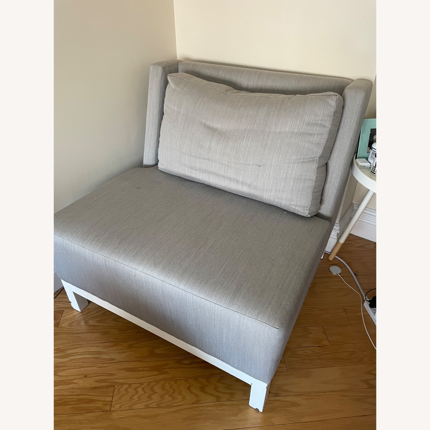 Silver/Gray Accent Chair - image-1