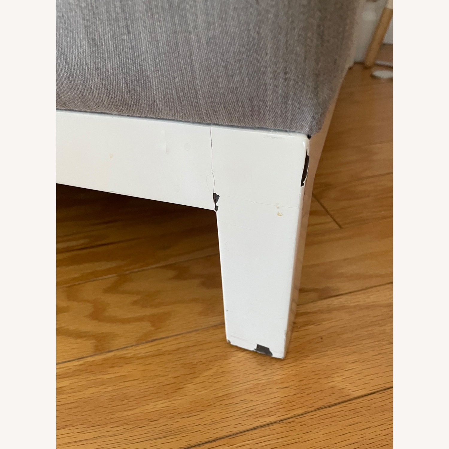 Silver/Gray Accent Chair - image-2