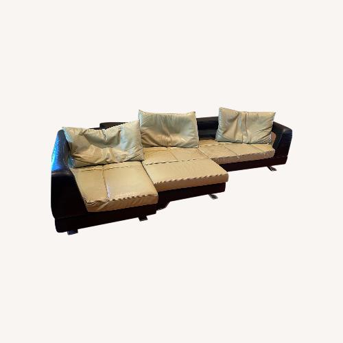 Used Formenti S.RL Italian Contemporary Genuine Black/Green Couch for sale on AptDeco