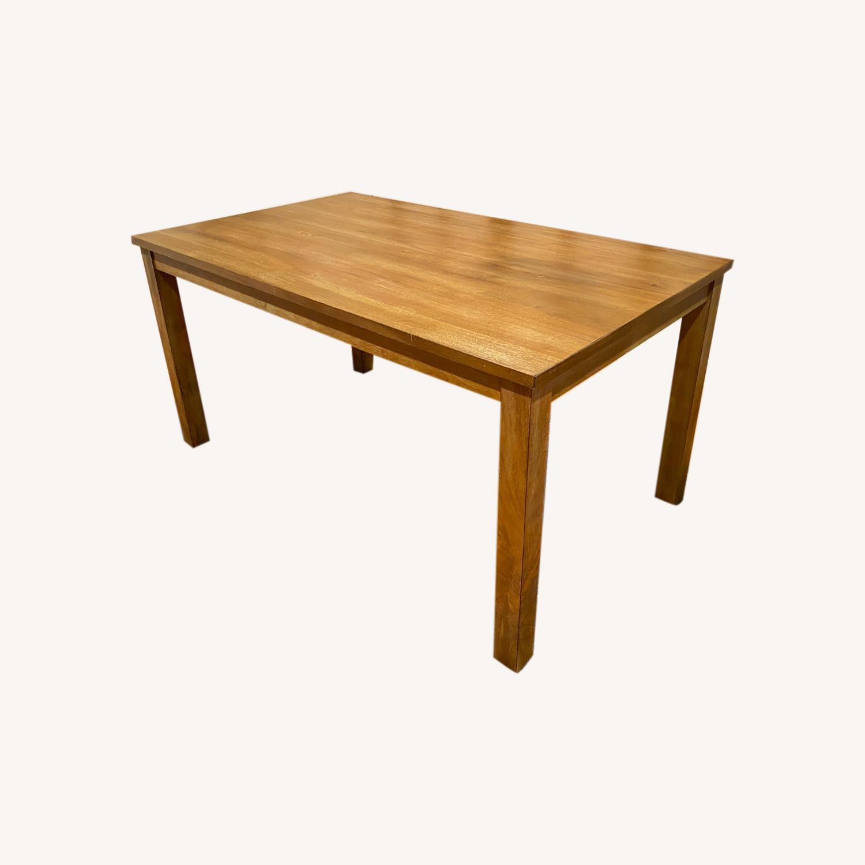 Rectangular Wood Dining Table - image-0