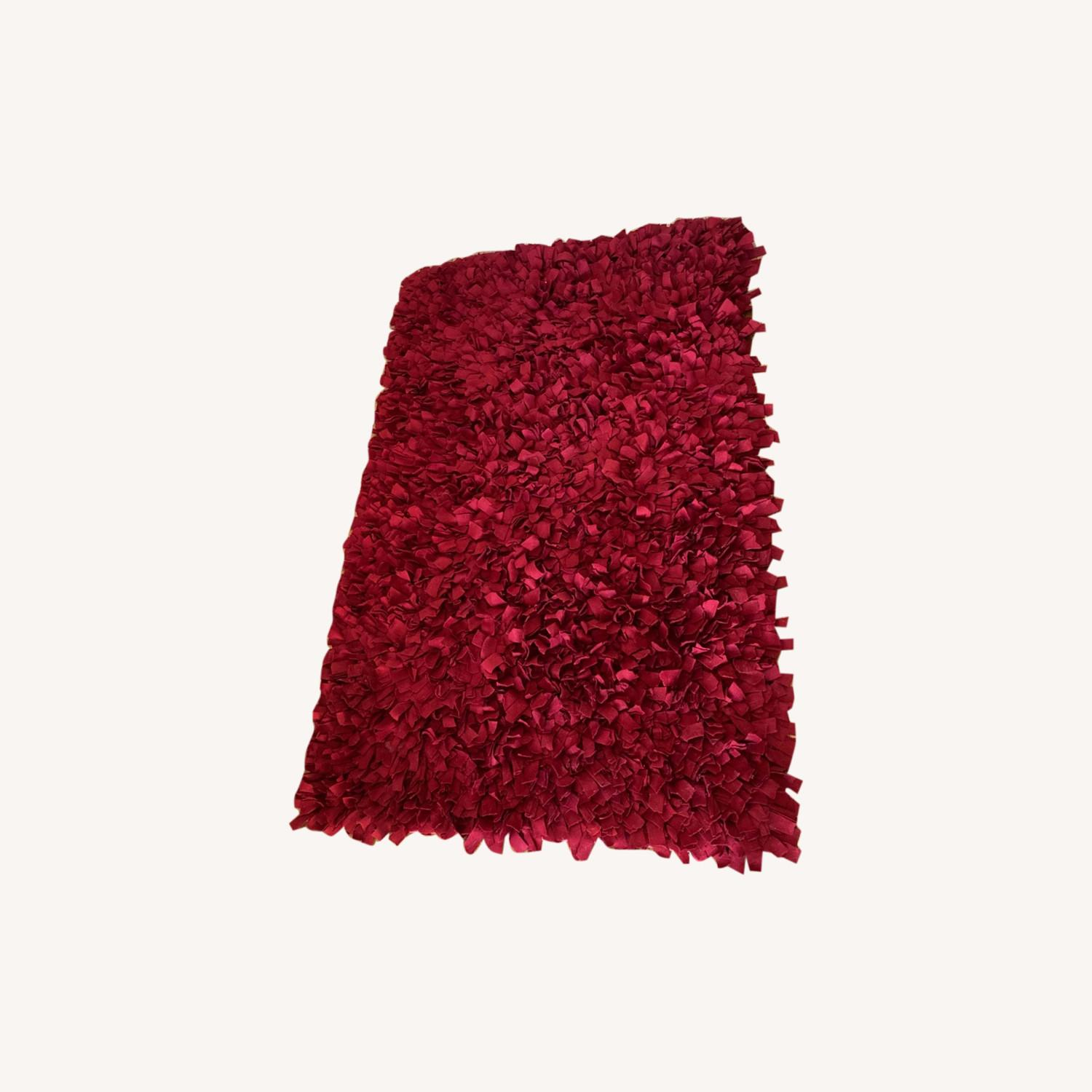 ABC Carpet & Home Red Wool Felted Rug - image-0