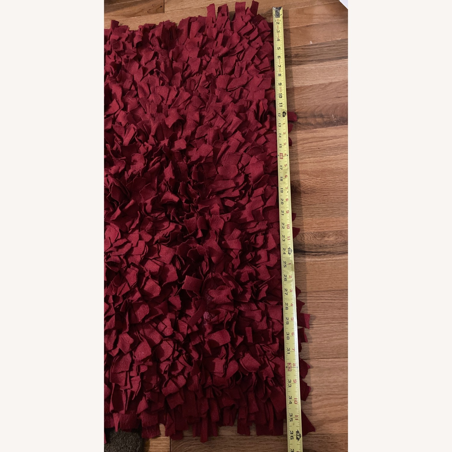 ABC Carpet & Home Red Wool Felted Rug - image-5