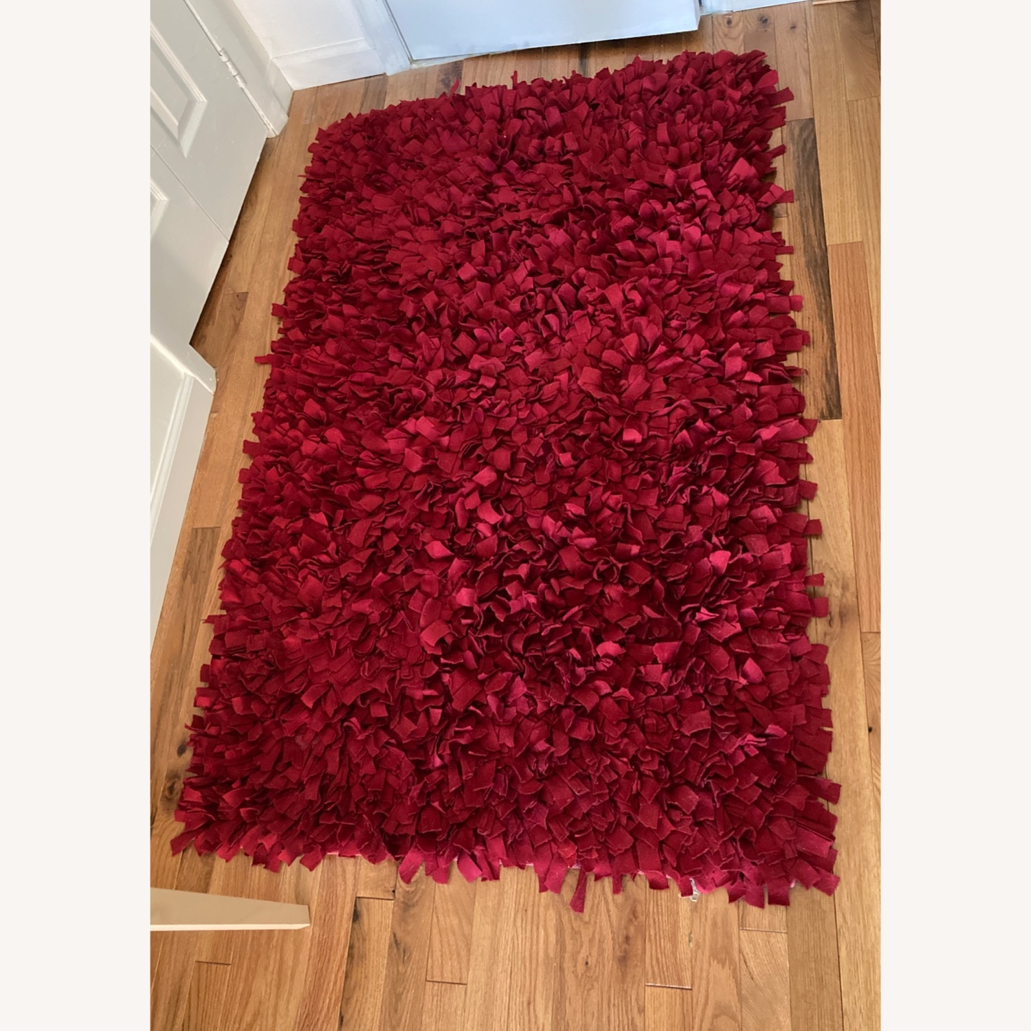 ABC Carpet & Home Red Wool Felted Rug - image-1