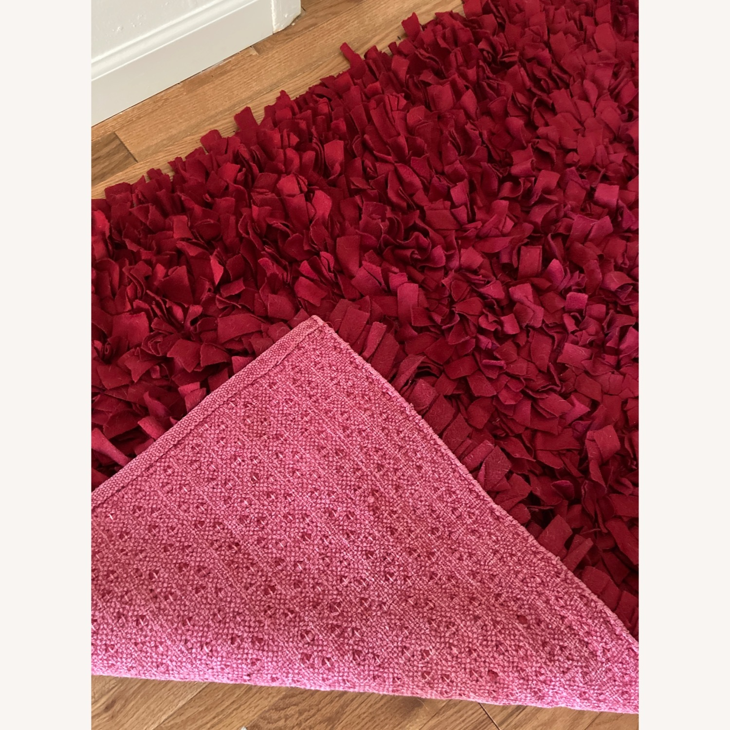 ABC Carpet & Home Red Wool Felted Rug - image-4