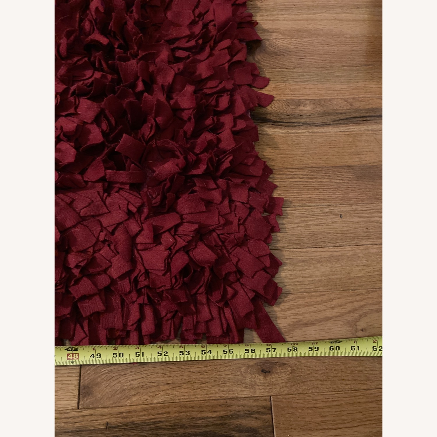 ABC Carpet & Home Red Wool Felted Rug - image-7