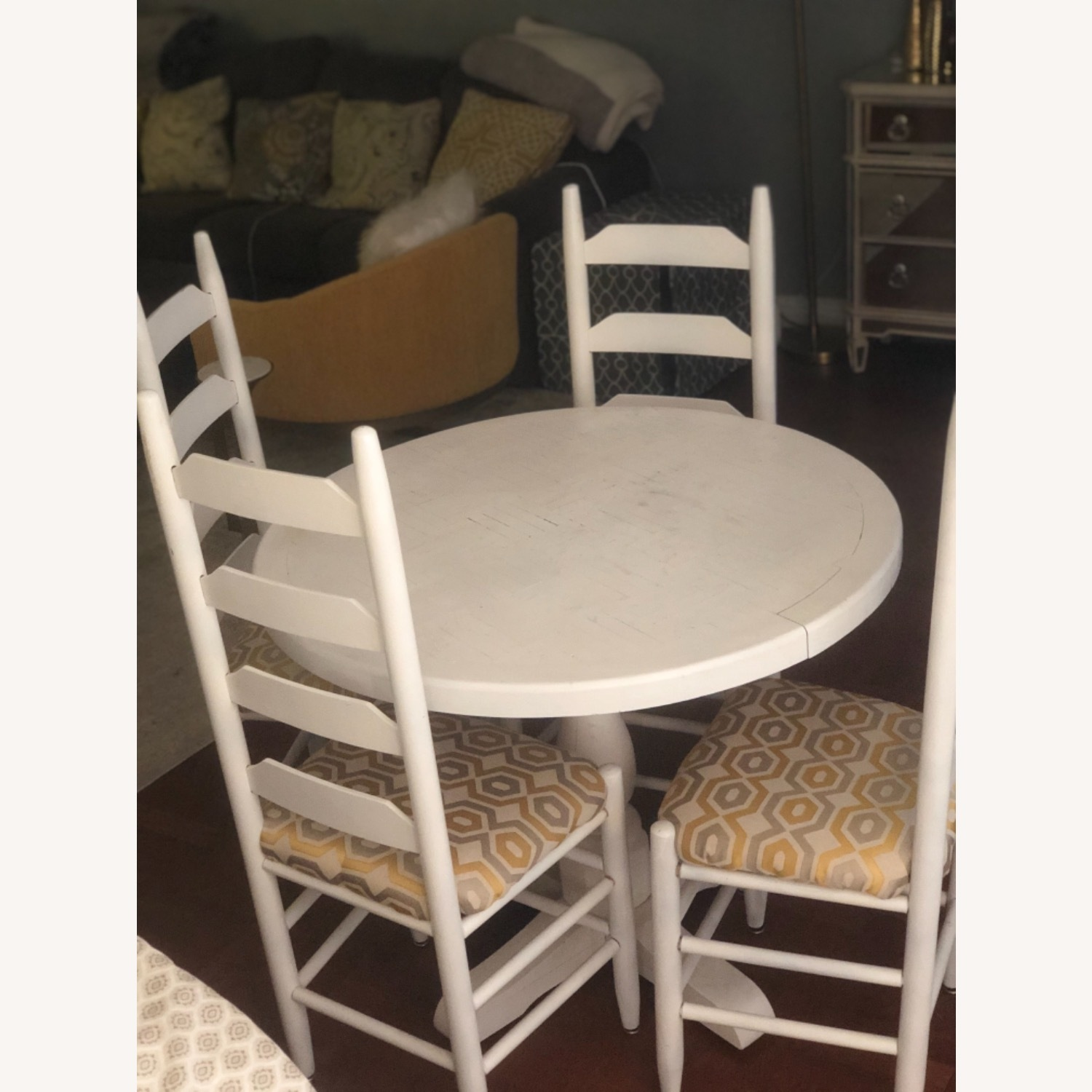 Solid Oak Table and 4 Chairs - image-1