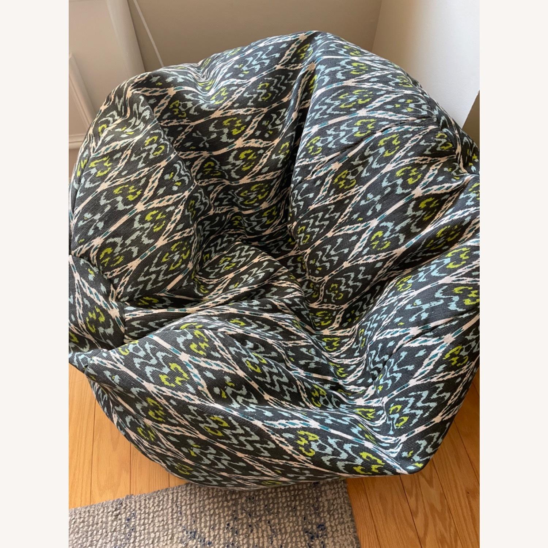 West Elm Bean Bag Chair - image-1