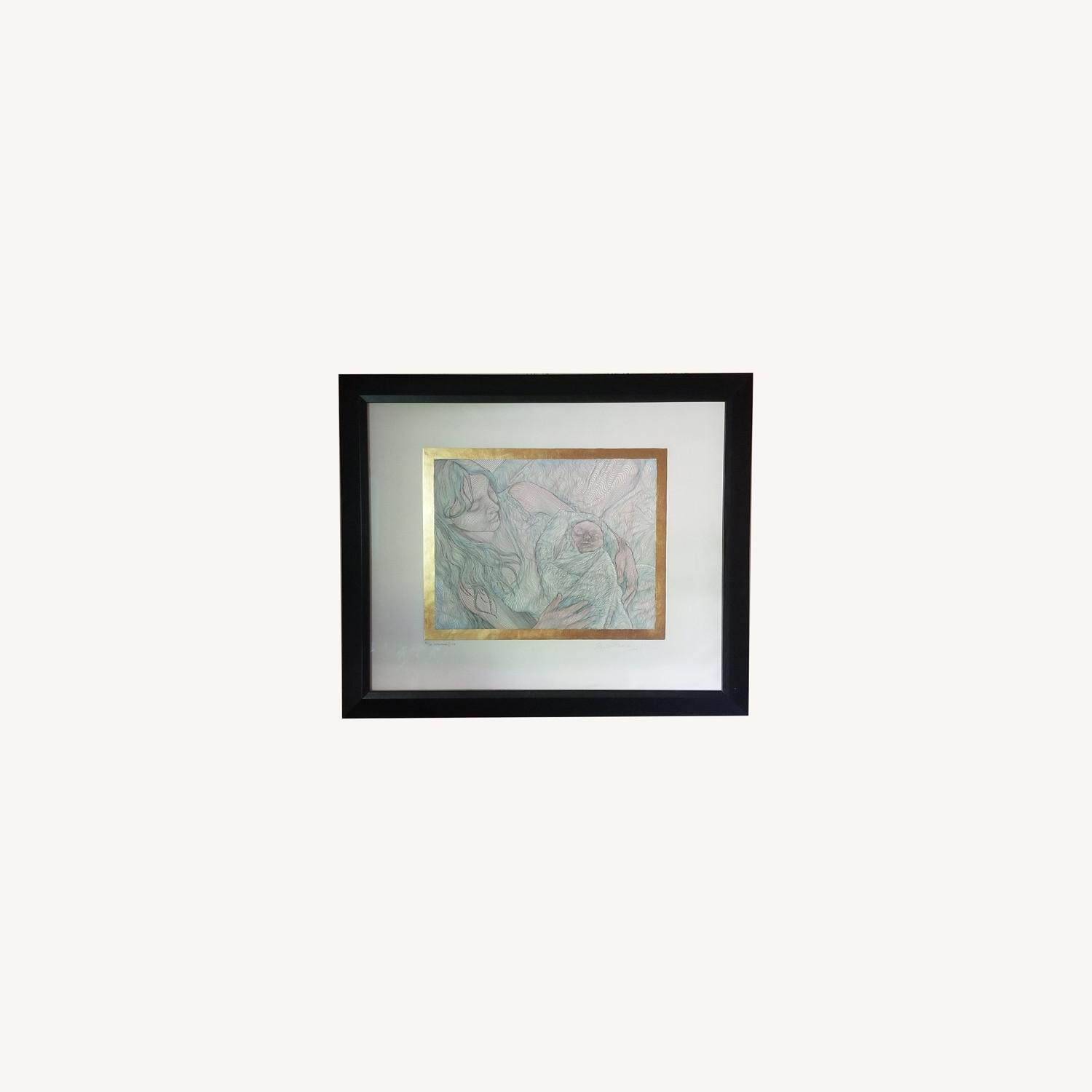 Guillaume Azoulay Original Line Drawing Lithograph - image-0