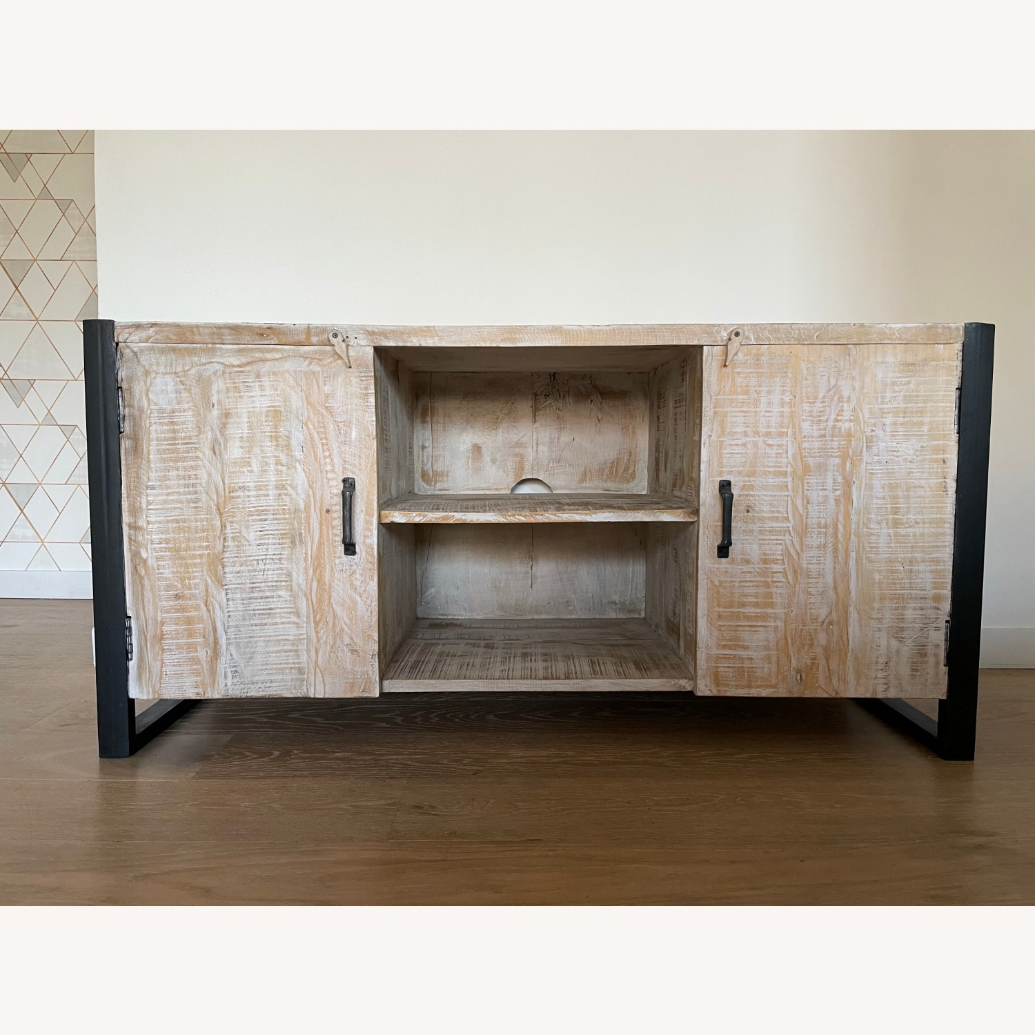 Reclaimed Wood Console - image-1