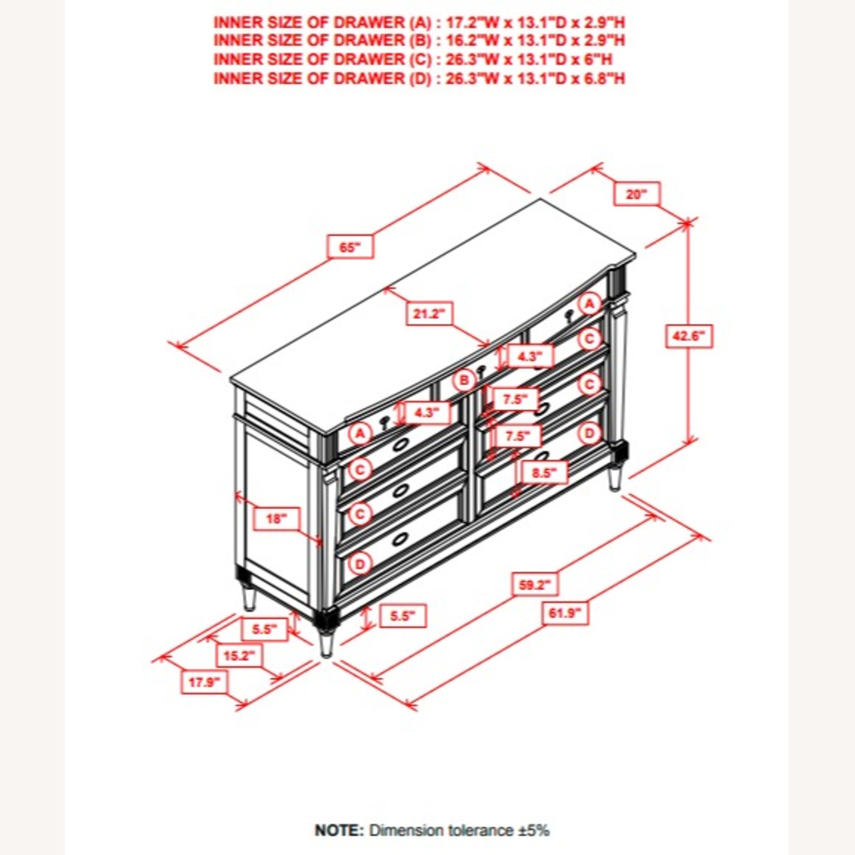 Dresser In French Grey Mahogany Wood Finish - image-2