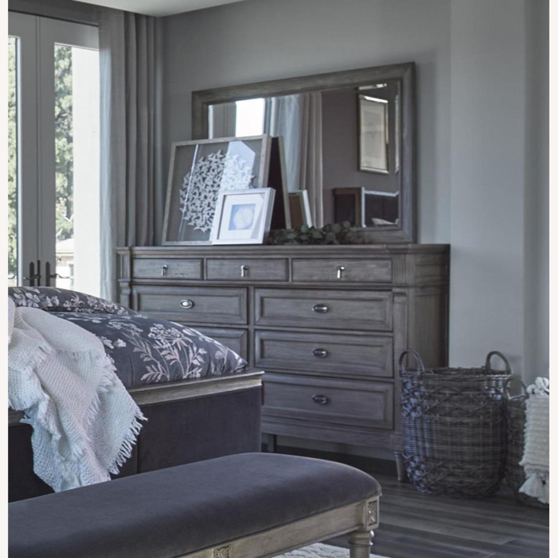 Dresser In French Grey Mahogany Wood Finish - image-1