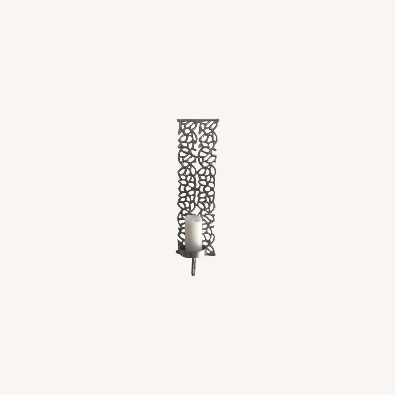 Metal Wall Pillar Candle Sconce - image-0