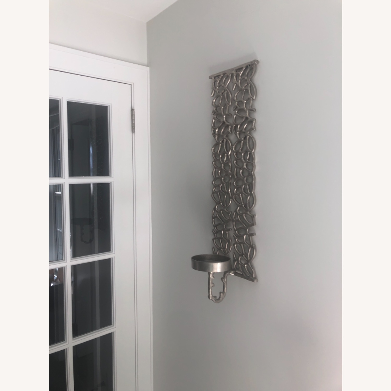 Metal Wall Pillar Candle Sconce - image-4
