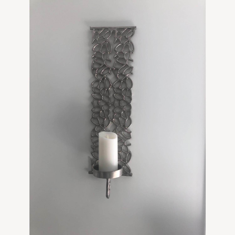 Metal Wall Pillar Candle Sconce - image-1