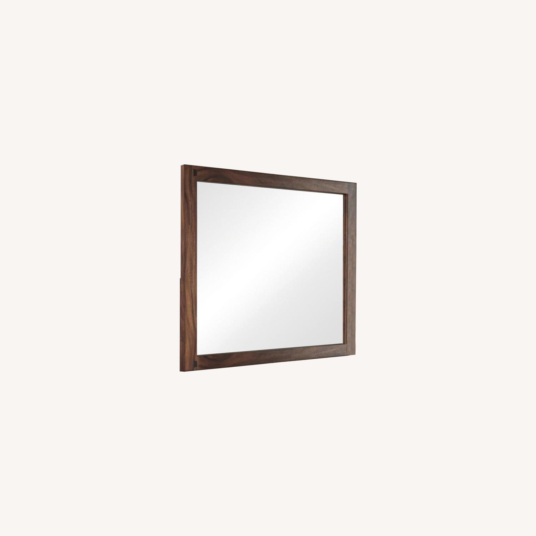 Mirror In Smokey Walnut Wood Frame Finish - image-4