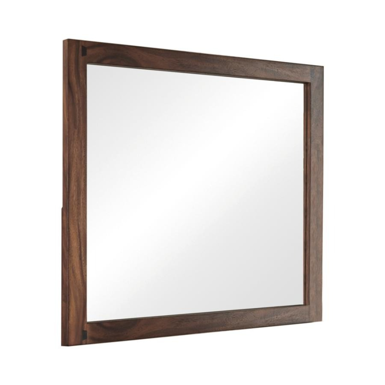 Mirror In Smokey Walnut Wood Frame Finish - image-0