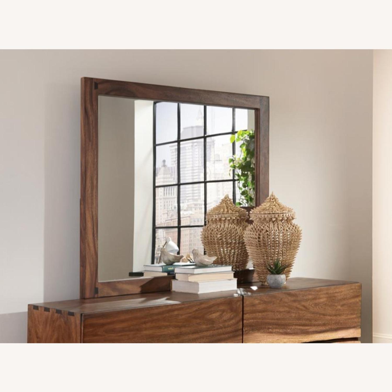Mirror In Smokey Walnut Wood Frame Finish - image-1