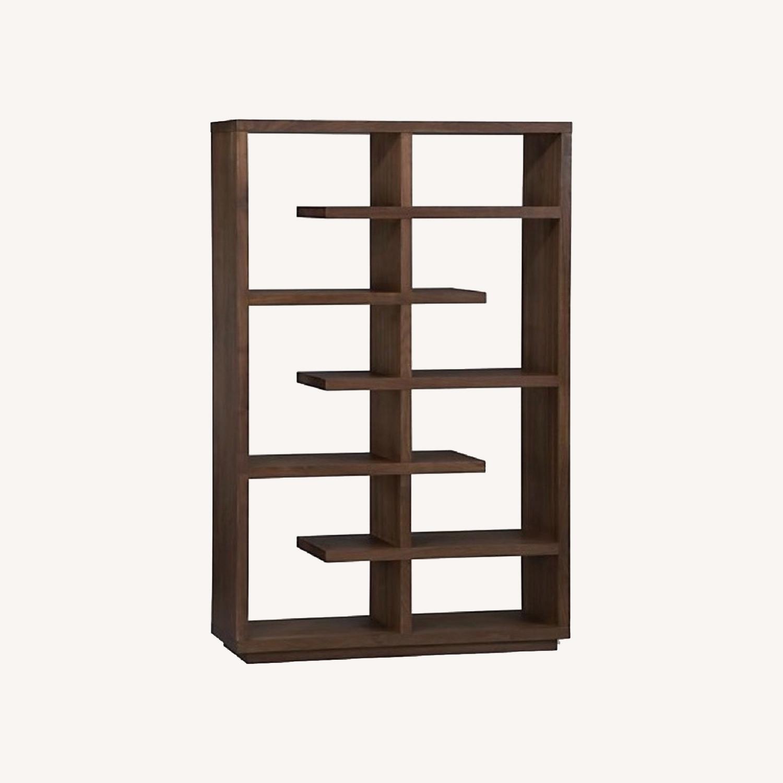 Crate & Barrel Elevate Ebony Bookshelf - image-0