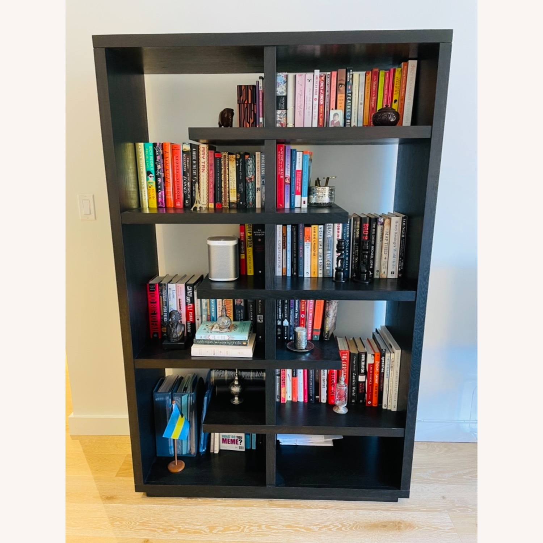 Crate & Barrel Elevate Ebony Bookshelf - image-1