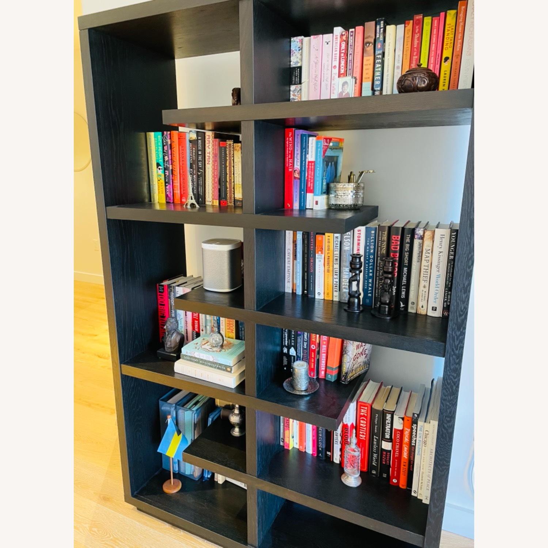Crate & Barrel Elevate Ebony Bookshelf - image-2