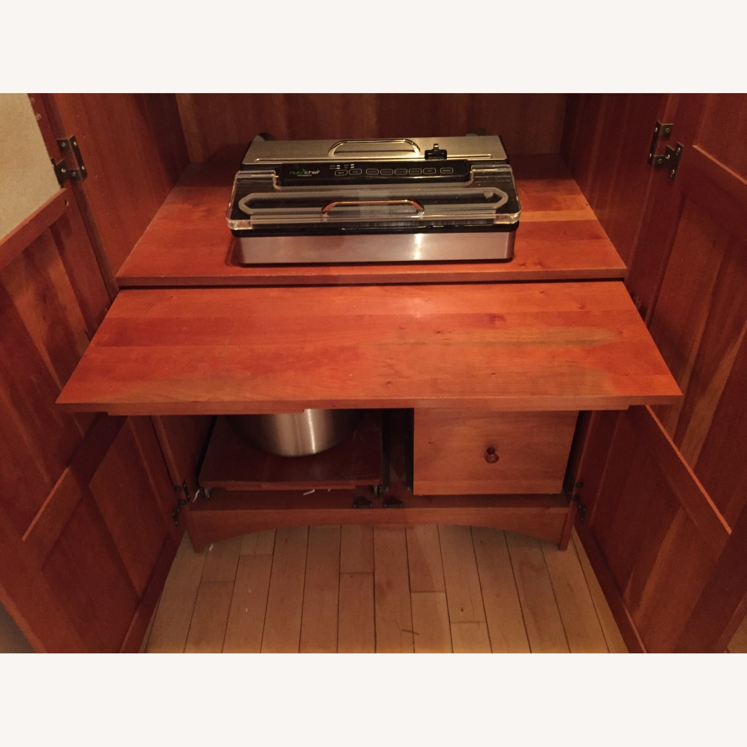 Solid Cherry Computer Work Station - image-8