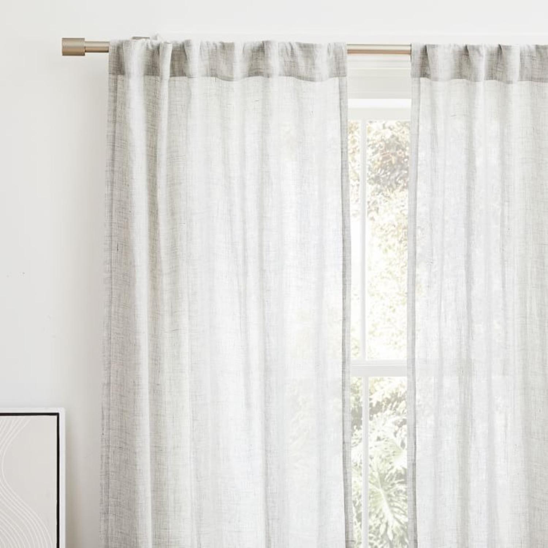 West Elm Brushed Nickel Curtain Rod - image-2