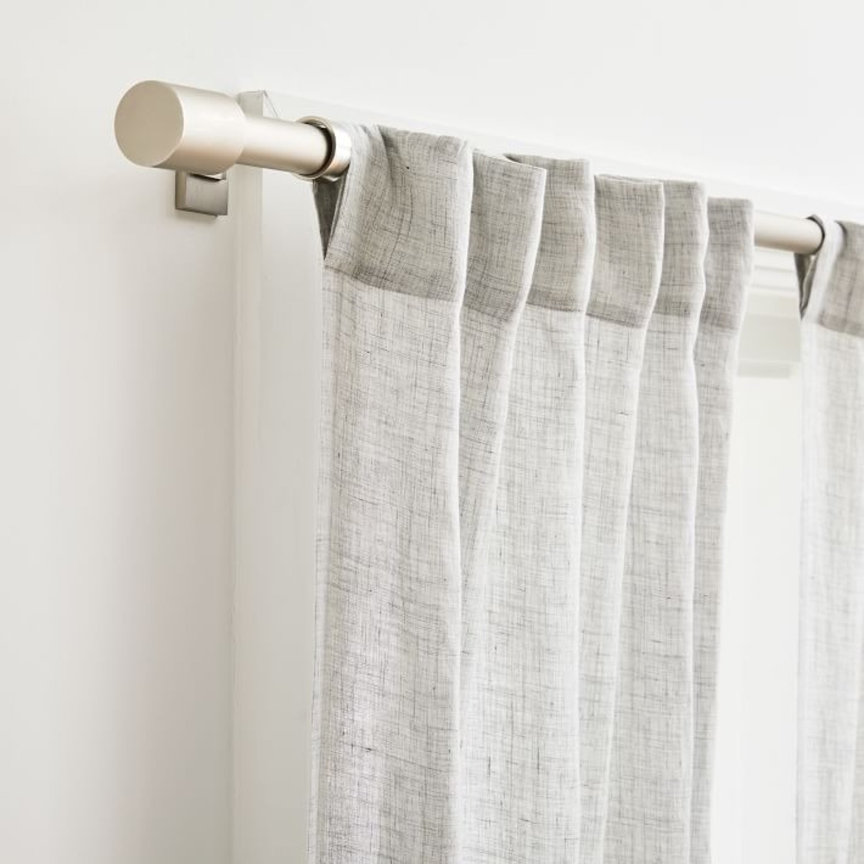 West Elm Brushed Nickel Curtain Rod - image-3