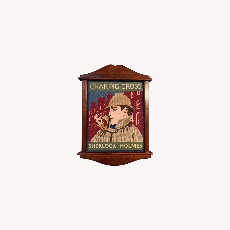 Sherlock Holmes Pub sign - Hand needlepointed - image-0