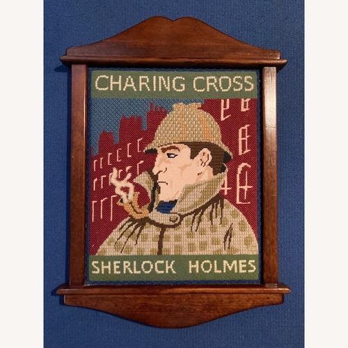 Used Sherlock Holmes Pub sign - Hand needlepointed for sale on AptDeco