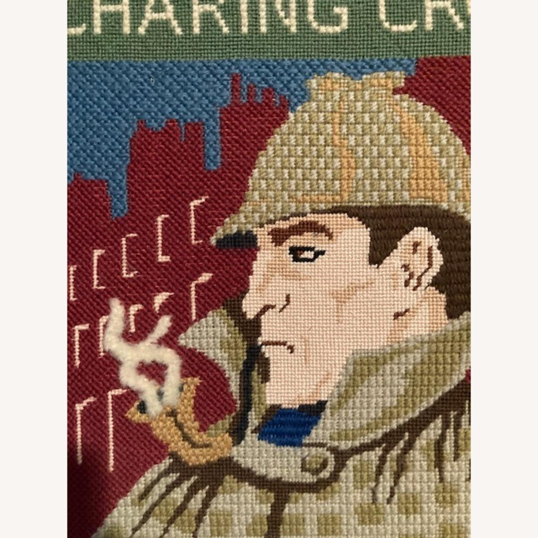 Sherlock Holmes Pub sign - Hand needlepointed - image-2