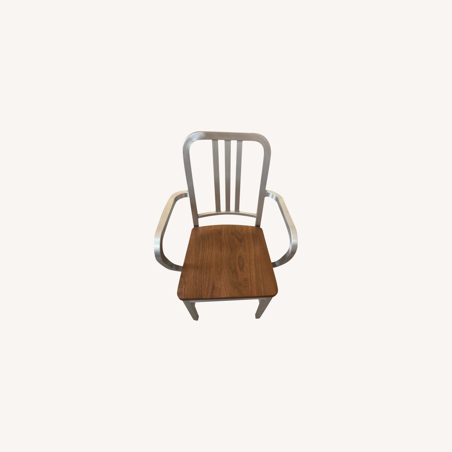 Emeco Navy Chair With Walnut Seat - image-0
