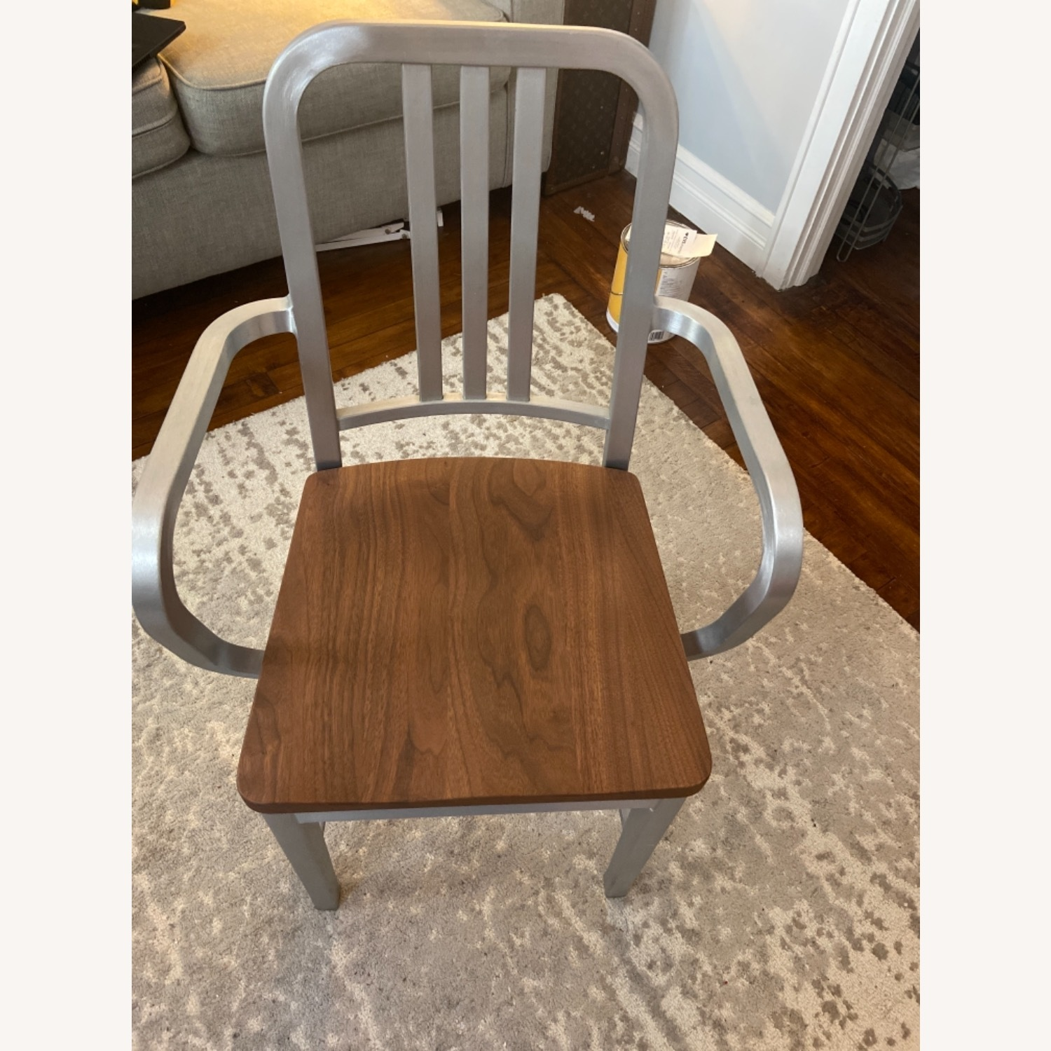 Emeco Navy Chair With Walnut Seat - image-1