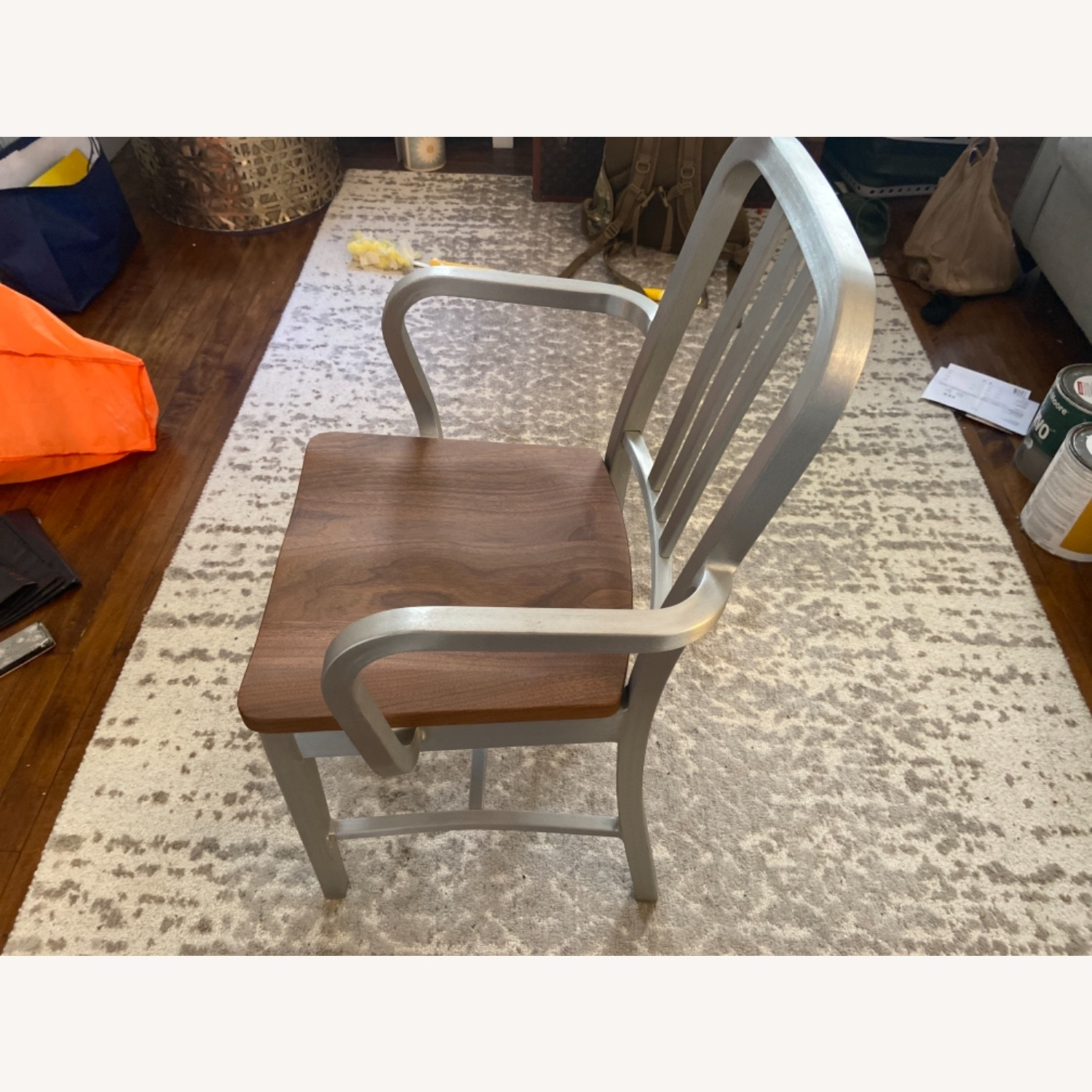 Emeco Navy Chair With Walnut Seat - image-2