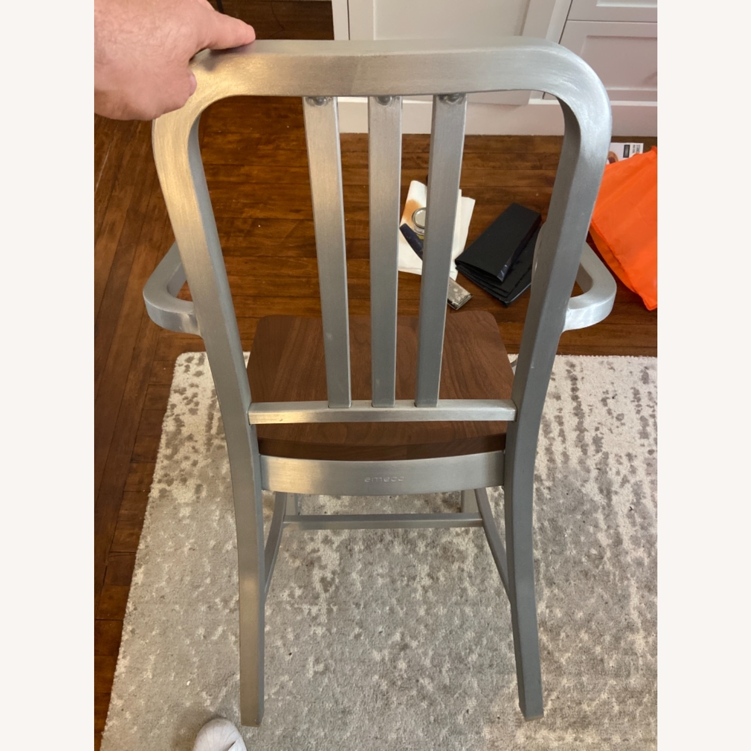 Emeco Navy Chair With Walnut Seat - image-3