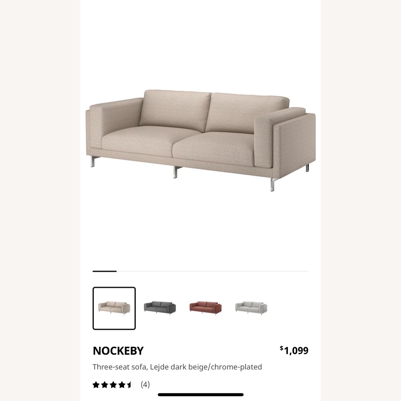IKEA Nockeby 3 Seat Sofa + BEMZ Velvet Cover - image-4