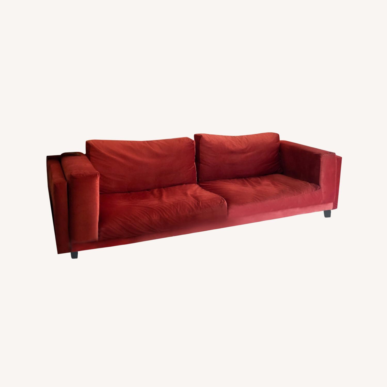 IKEA Nockeby 3 Seat Sofa + BEMZ Velvet Cover - image-0