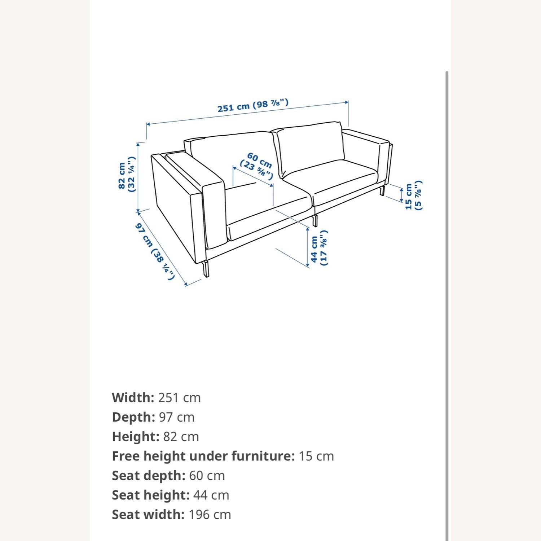 IKEA Nockeby 3 Seat Sofa + BEMZ Velvet Cover - image-6