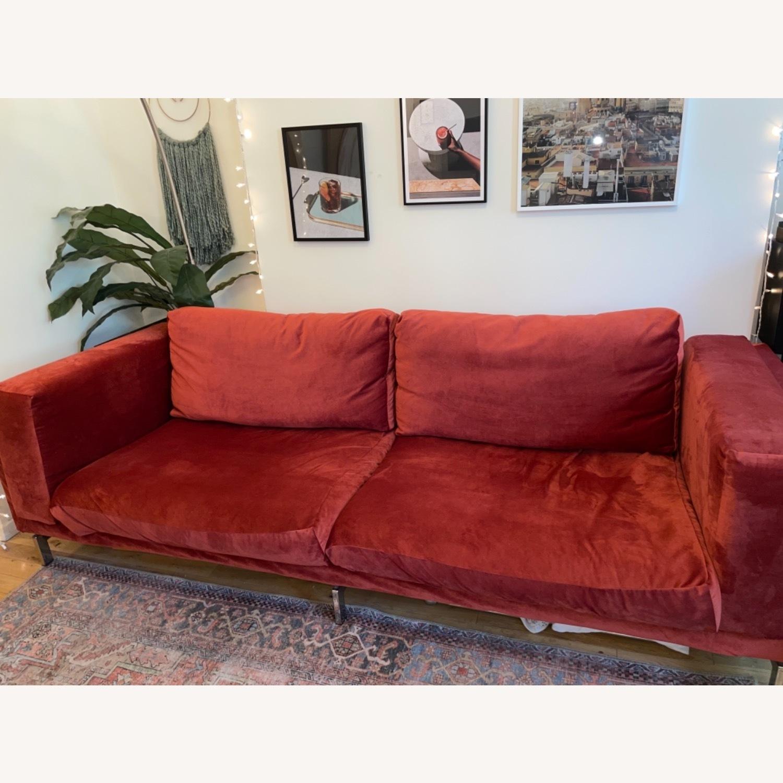 IKEA Nockeby 3 Seat Sofa + BEMZ Velvet Cover - image-11